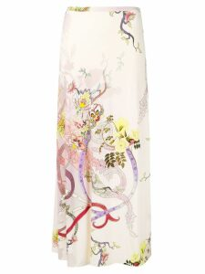 Etro long printed skirt - Pink