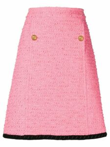 Gucci tweed A-line skirt - Pink
