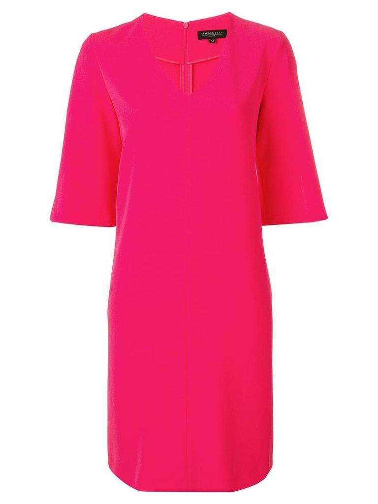 Antonelli v-neck shift dress - Pink