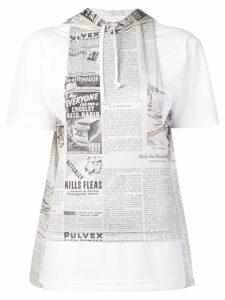 Comme Des Garçons multi print hooded T-shirt - White