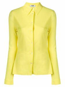 MSGM longsleeved shirt - Yellow
