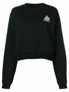 Off-White 'Flowers' logo embroidered sweatshirt - Black