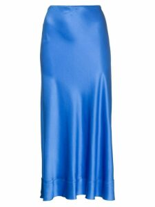 Lee Mathews Fitted silk midi skirt - Blue