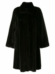 Liska Bounty trimmed coat - Black