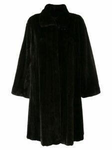 Liska Bounty trimmed coat - Black
