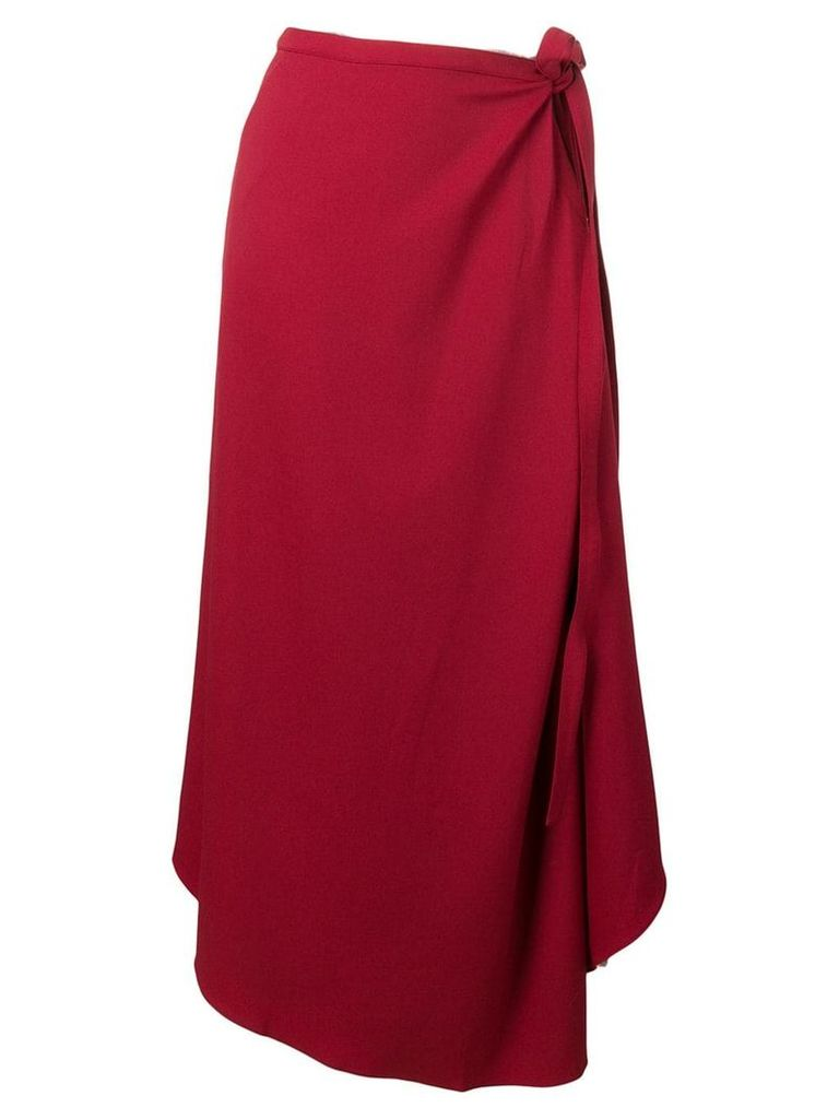Y/Project asymmetric skirt - Red