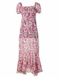 Raquel Diniz floral chiffon dress - Pink