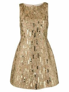 Alice+Olivia sequin embroidered mini dress - GOLD