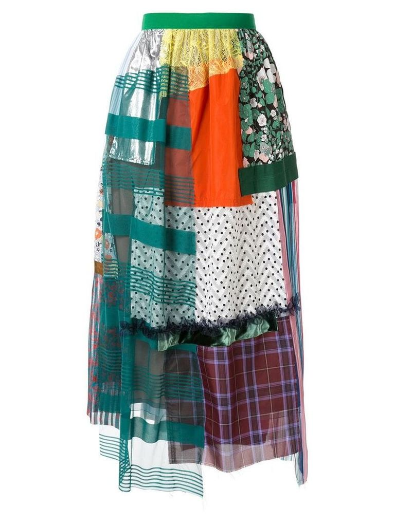 Kolor patchwork skirt - Multicolour