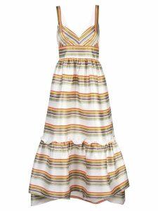 Jill Jill Stuart striped flared dress - Neutrals