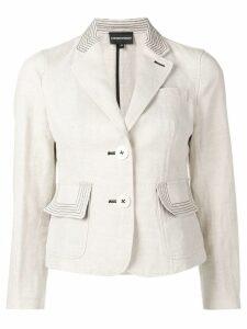 Emporio Armani contrast stitch blazer - Neutrals