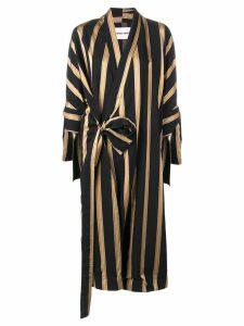 Henrik Vibskov Whirl longline coat - Black