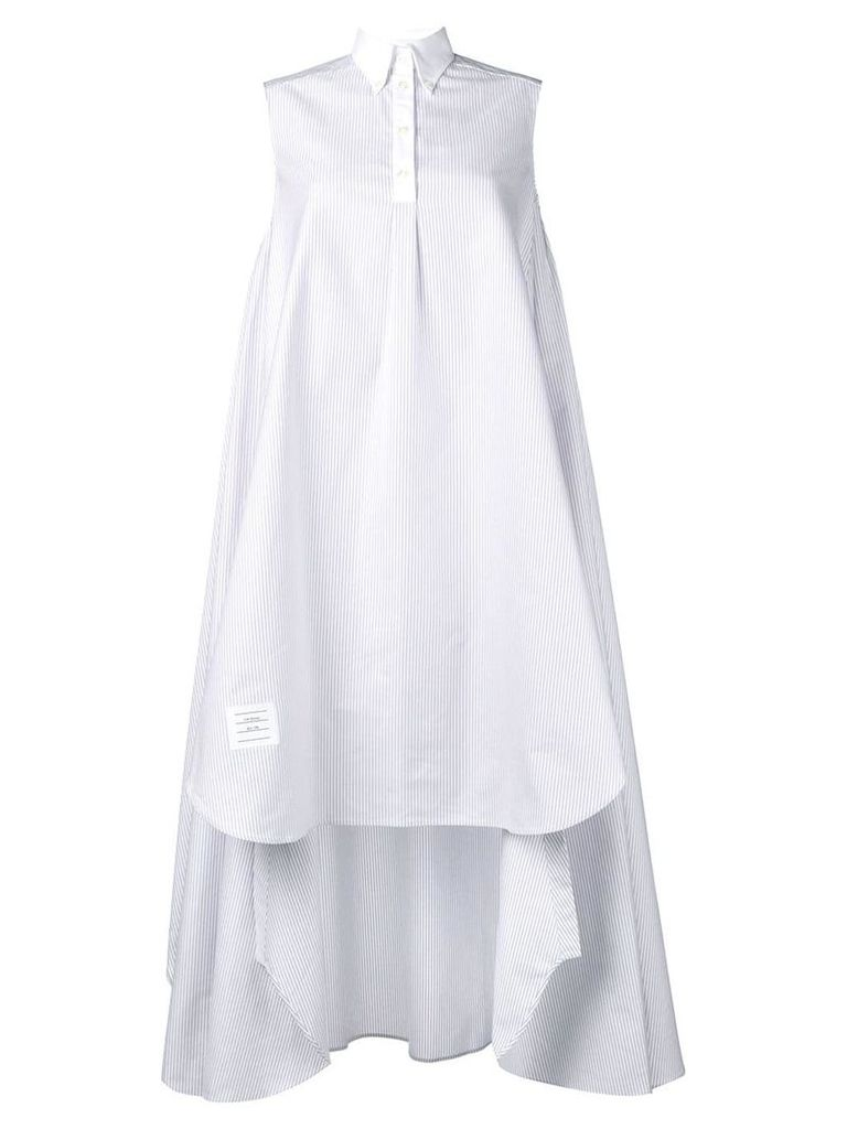 Thom Browne sleeveless shirt dress - Grey