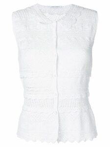 Alberta Ferretti crochet cardigan - White