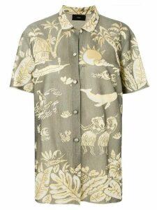 Alanui woven pattern shirt - Green