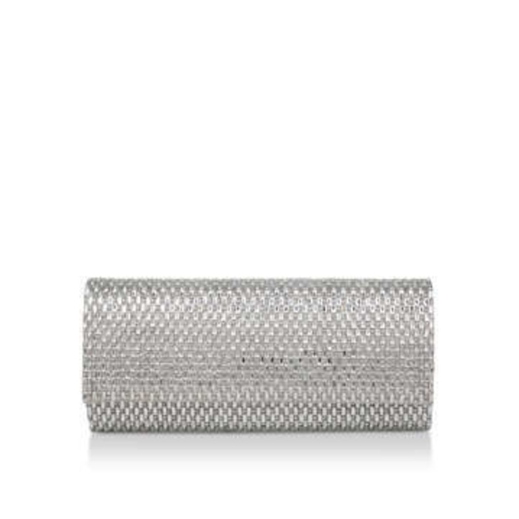 Aldo Montelibretti - Metallic Silver Clutch Bag