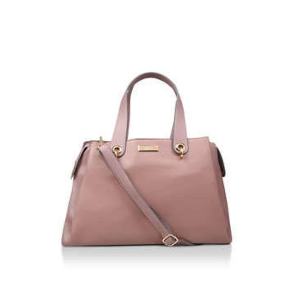 Carvela Carrie Trpl Comp Tote - Pink Cross Body Tote Bag
