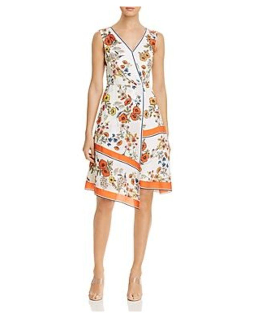 Elie Tahari Jannele Asymmetric Handkerchief Dress
