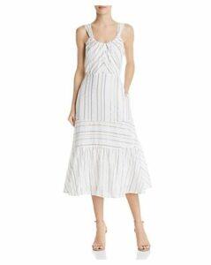 La Vie Rebecca Taylor Metallic Striped Midi Dress