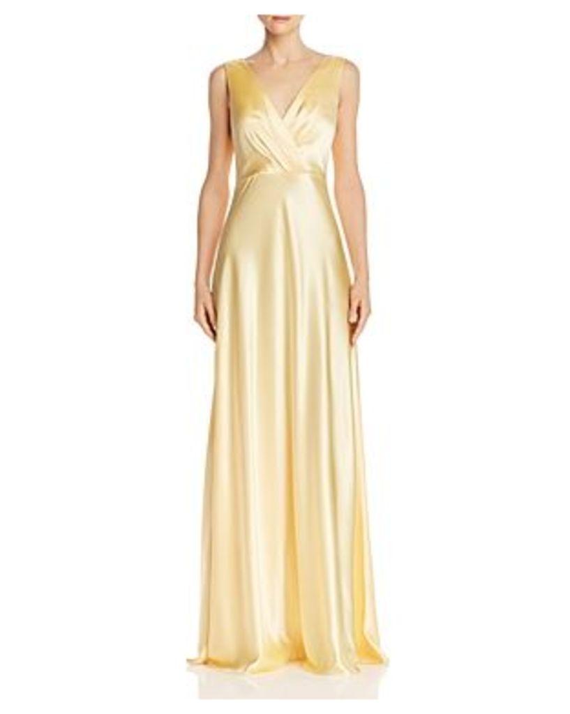 Jill Jill Stuart Bow-Back Satin Gown