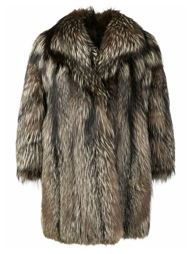 A.N.G.E.L.O. Vintage Cult oversized fur coat - Brown