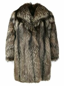 A.N.G.E.L.O. Vintage Cult oversized fur coat - Brown