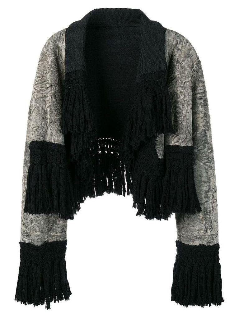 A.N.G.E.L.O. Vintage Cult reversible fur coat - Grey