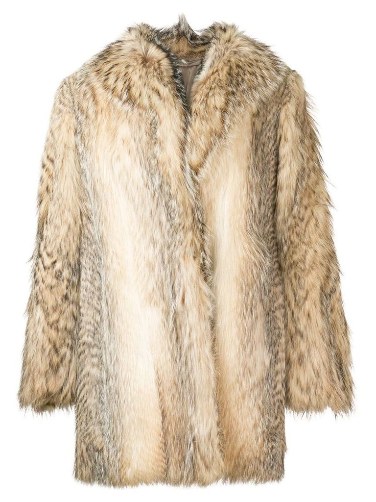 A.N.G.E.L.O. Vintage Cult fur coat - Neutrals