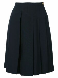 Chanel Pre-Owned pleated skirt - Blue