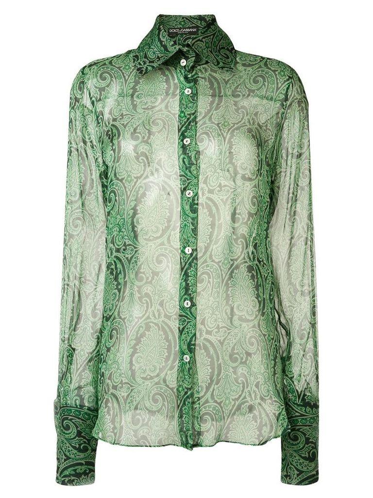 Dolce & Gabbana Vintage paisley print shirt - Green