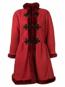 Mario Borsato Vintage fur-trimmed shearling coat - Red