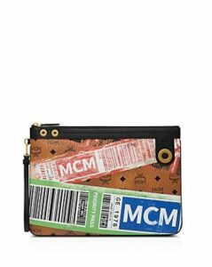 Mcm Flight Print Visetos Zip Pouch