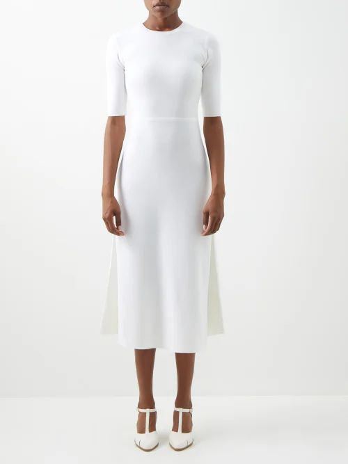 The Row - Ella Gathered Silk Georgette Blouse - Womens - Beige