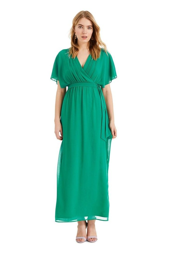 Womens Phase Eight Green Hyria Chiffon Maxi Dress -  Green