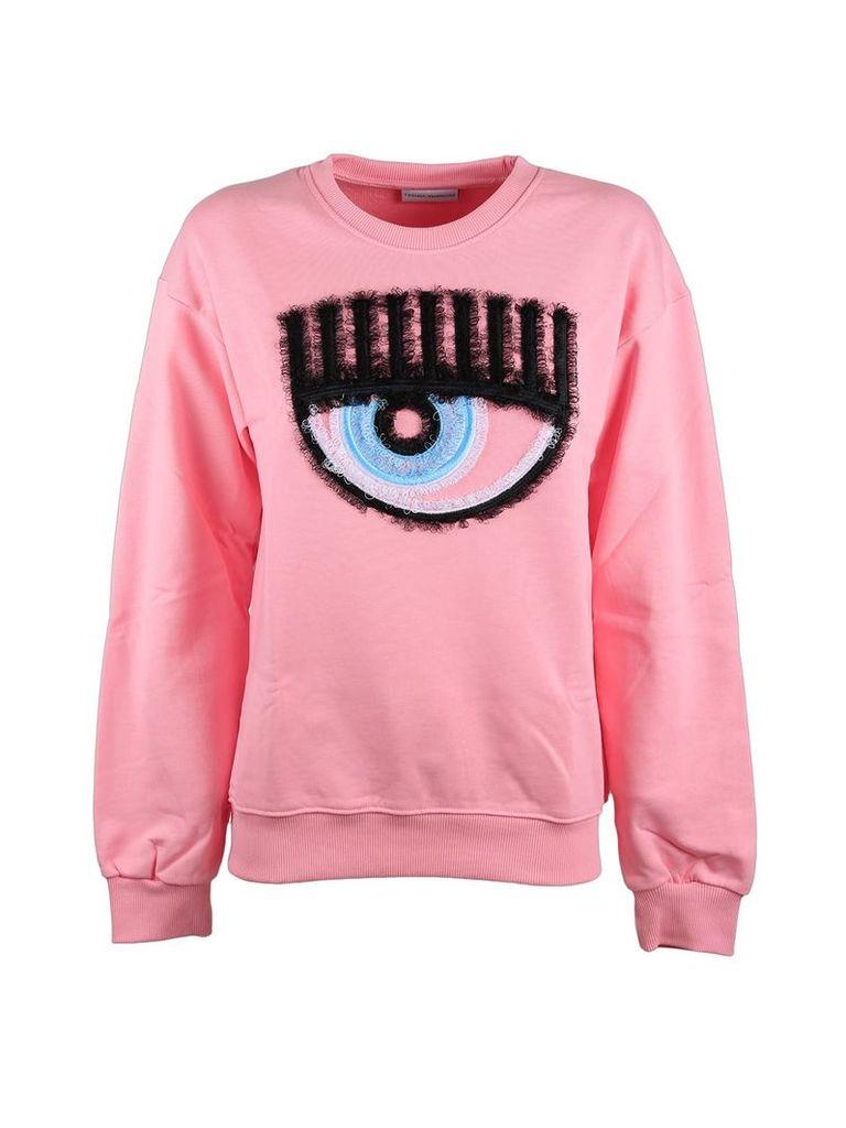 Chiara Ferragni pink sweatshirt