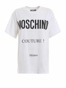 Moschino Logo Lettering Print White T-shirt