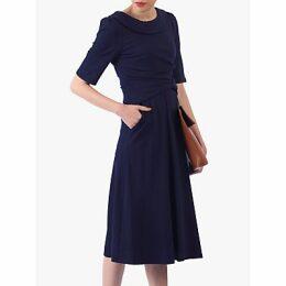 Jolie Moi Roll Collar 50s Dress