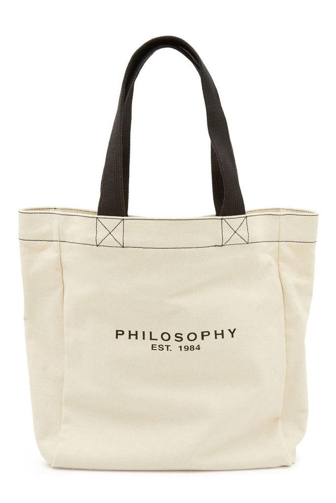 Philosophy di Lorenzo Serafini Printed Cotton Shopper