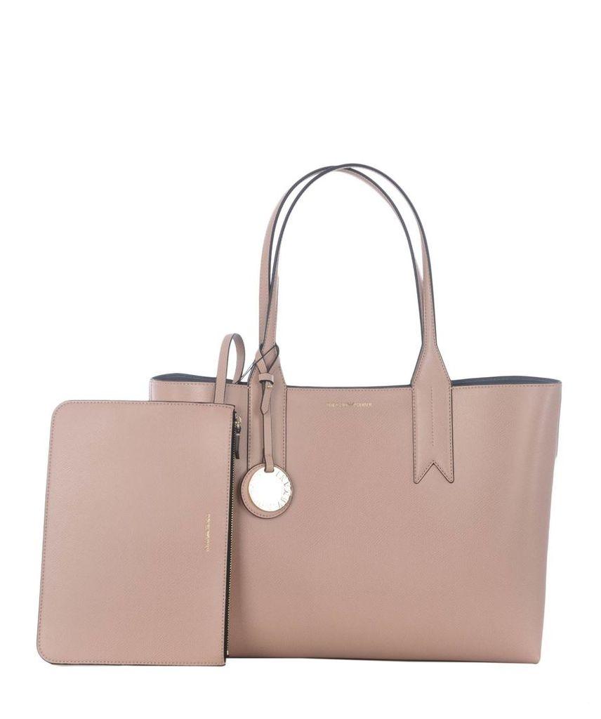 Emporio Armani Embossed Logo Shopper Bag