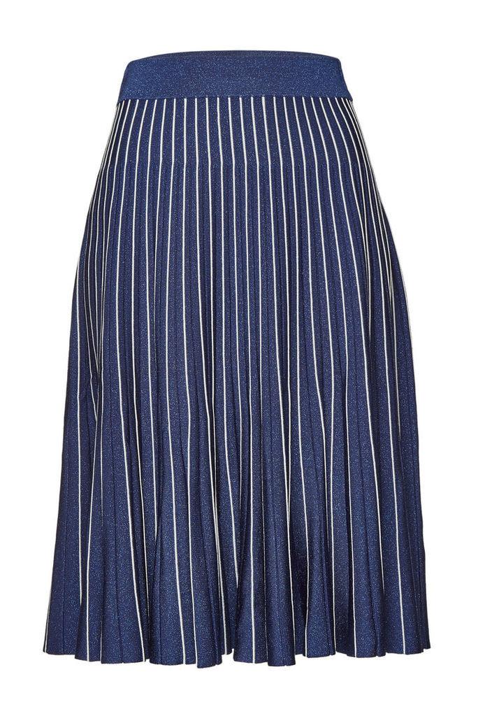 Jonathan Simkhai Metallic Pleats Skirt