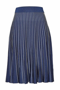 Jonathan Simkhai Metallic Pleats Skirt