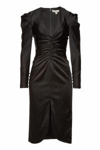 Jonathan Simkhai Satin Pleated Sleeve Dress