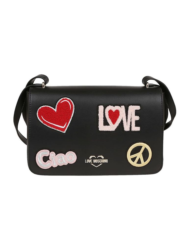 Love Moschino Patched Shoulder Bag