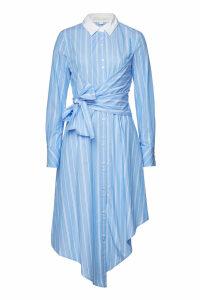 Jonathan Simkhai Asymmetric Long Sleeve Wrap Oxford Dress