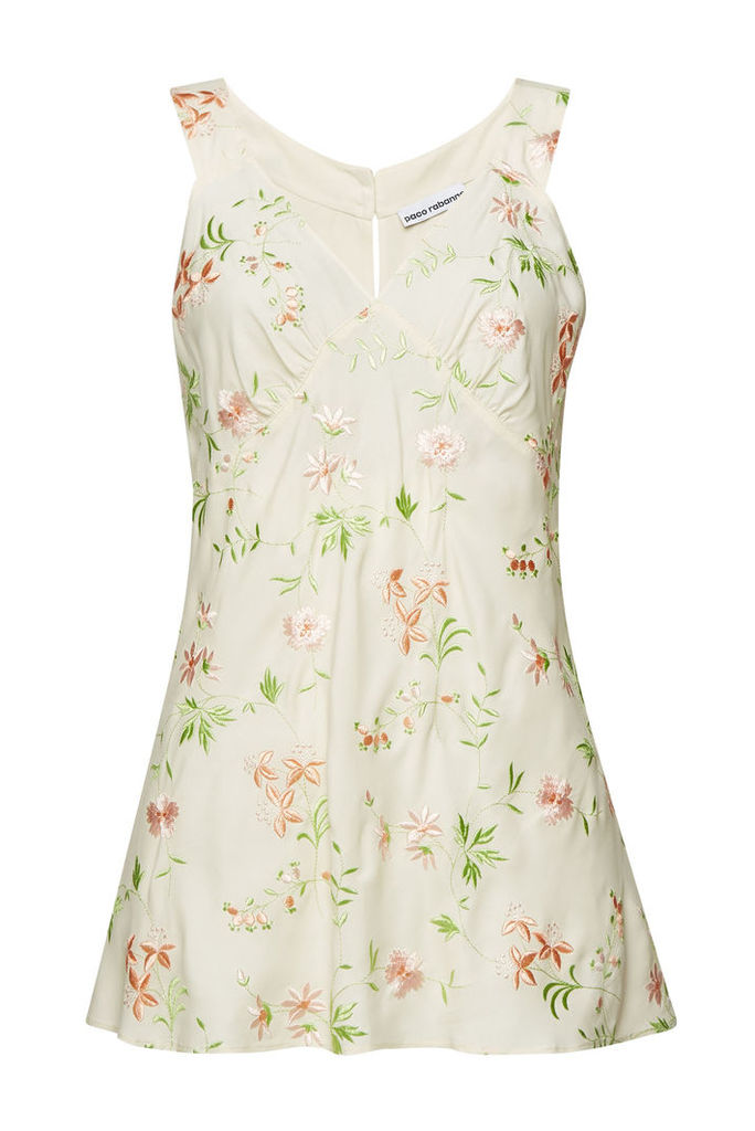 Paco Rabanne Embroidered Top with Silk