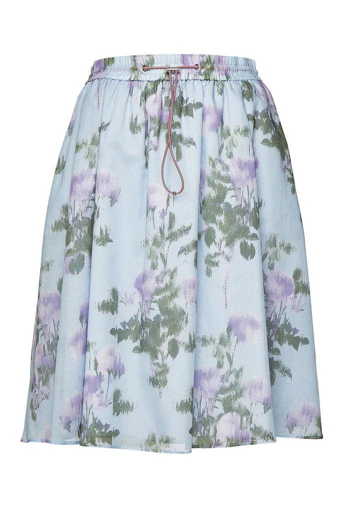 Hugo Ronevi Printed Cotton Skirt