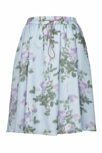 Hugo Ronevi Printed Cotton Skirt