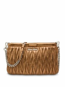 Miu Miu matelassé clutch bag - Brown