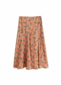 Paisley patterned midi skirt