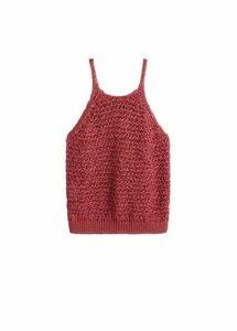 Open knit top